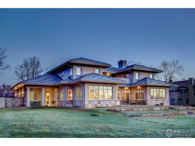 Boulder CO Single Family Home For Sale: $3,480,000