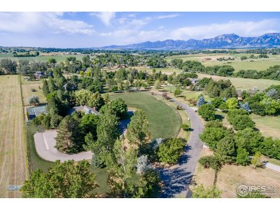 Boulder CO Single Family Home For Sale: $2,350,000