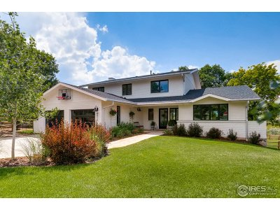 Boulder CO Single Family Home For Sale: $1,950,000