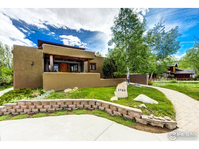 Boulder CO Single Family Home For Sale: $1,797,000