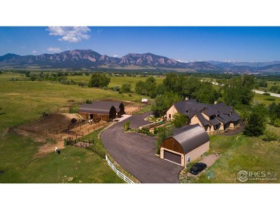 Boulder CO Single Family Home For Sale: $3,600,000