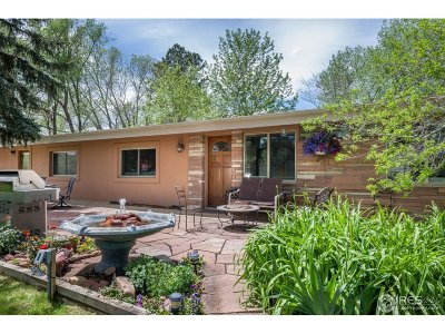 Boulder CO Single Family Home For Sale: $1,100,000