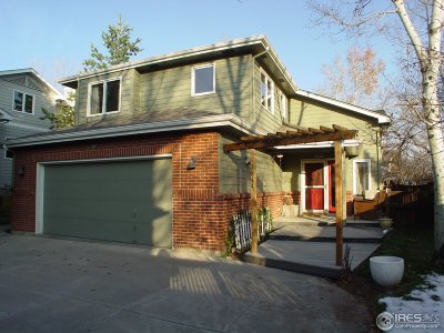 Boulder CO Single Family Home For Sale: $998,500