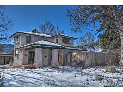Boulder CO Single Family Home For Sale: $1,549,000
