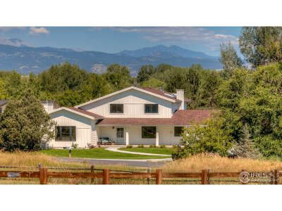 Niwot Single Family Home For Sale: 8063 Meadowlake Rd