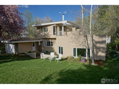Boulder CO Single Family Home For Sale: $1,600,000