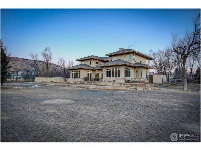 Boulder CO Single Family Home For Sale: $3,900,000