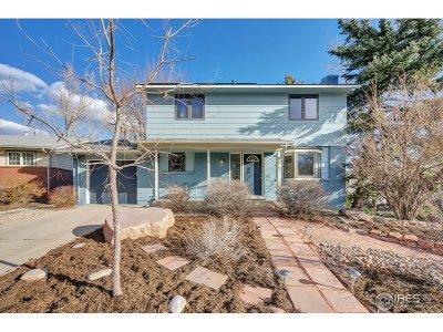 Boulder Single Family Home For Sale: 1590 Judson Dr