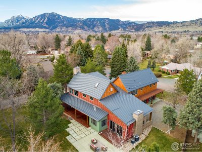 Boulder CO Single Family Home For Sale: $3,495,000