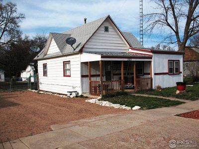 Haxtun Single Family Home For Sale: 321 E Raymond St
