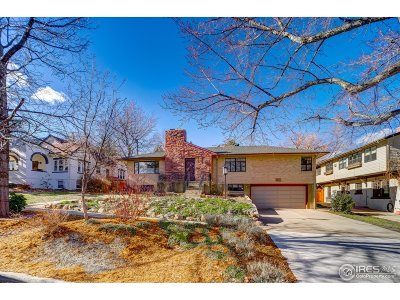 Boulder CO Single Family Home For Sale: $1,300,000