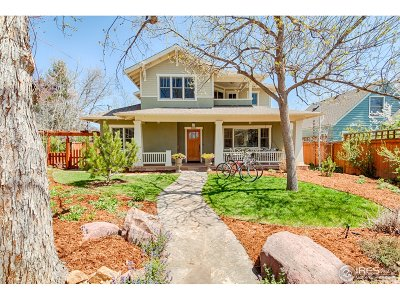 Boulder CO Single Family Home For Sale: $2,345,000