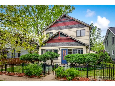 Boulder Single Family Home For Sale: 2542 Pine St