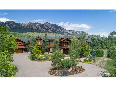 Boulder CO Single Family Home For Sale: $6,499,000