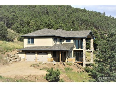 Boulder Single Family Home For Sale: 4140 Lee Hill Dr