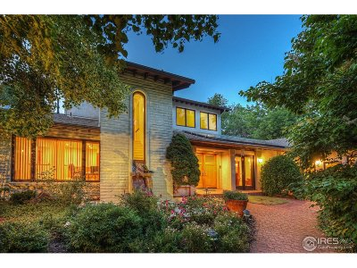 Boulder CO Single Family Home For Sale: $6,950,000