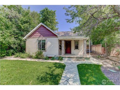 Boulder Single Family Home For Sale: 825 North St