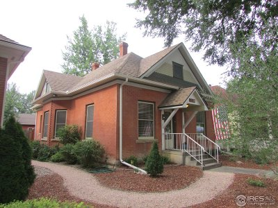 Fort Collins Single Family Home For Sale: 1017 W Mountain Ave