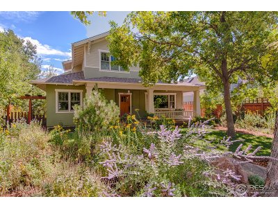 Boulder CO Single Family Home For Sale: $2,295,000
