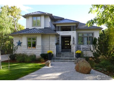 Boulder CO Single Family Home For Sale: $3,000,000