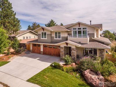 Boulder CO Single Family Home For Sale: $2,695,000