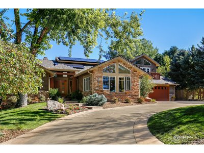 Boulder Single Family Home For Sale: 4934 Idylwild Trl