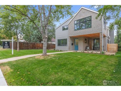 Boulder CO Single Family Home For Sale: $2,599,000