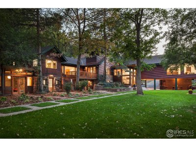 Boulder Single Family Home For Sale: 1810 Hillside Rd