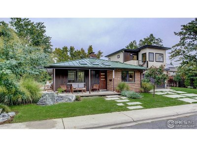 Boulder Single Family Home For Sale: 1605 Cedar Ave