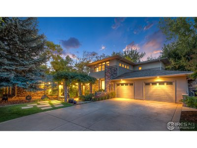 Boulder CO Single Family Home For Sale: $2,770,000