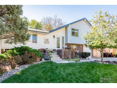 Boulder CO Single Family Home For Sale: $749,500