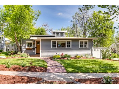 Boulder CO Single Family Home For Sale: $1,675,000