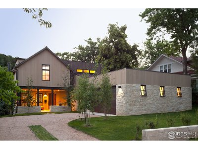 Boulder CO Single Family Home For Sale: $6,195,000