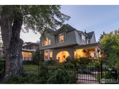 Boulder CO Single Family Home For Sale: $3,750,000