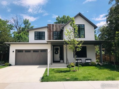 Boulder CO Single Family Home For Sale: $2,595,000
