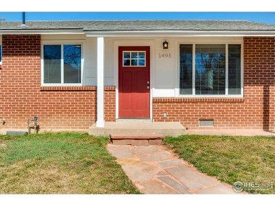 Boulder Single Family Home For Sale: 1495 Chestnut Pl