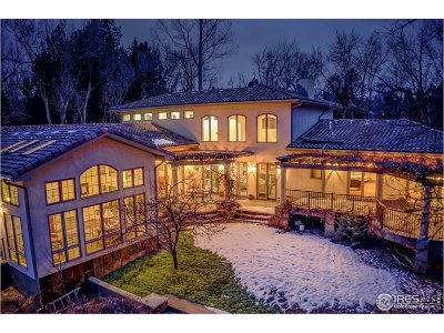 Boulder CO Single Family Home Active-Backup: $1,887,500