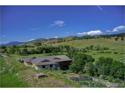 Boulder Single Family Home For Sale: 8417 N Foothills Hwy