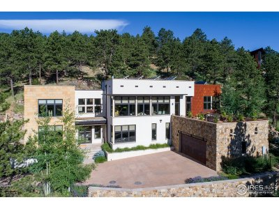 Boulder CO Single Family Home For Sale: $3,300,000