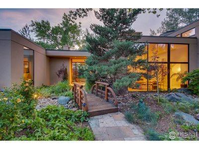 Boulder CO Single Family Home For Sale: $4,395,000