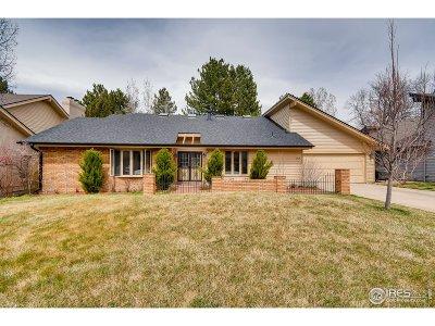 Boulder Single Family Home For Sale: 7177 Cedarwood Cir