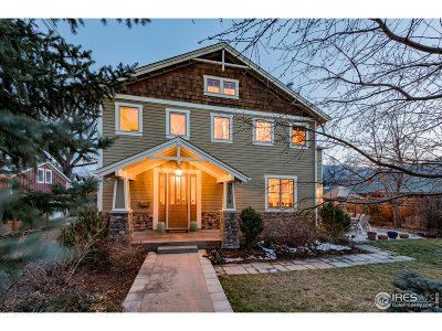 Boulder CO Single Family Home For Sale: $2,225,000