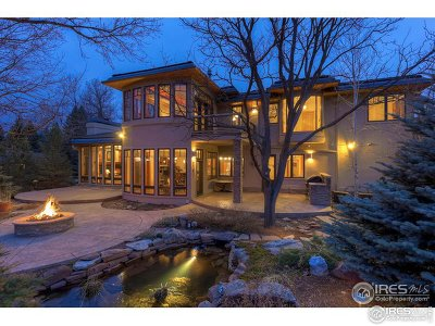 Boulder CO Single Family Home For Sale: $2,995,000