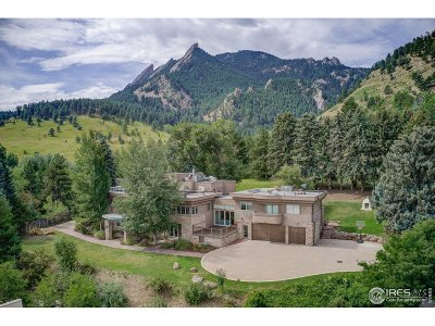 Boulder CO Single Family Home For Sale: $7,800,000