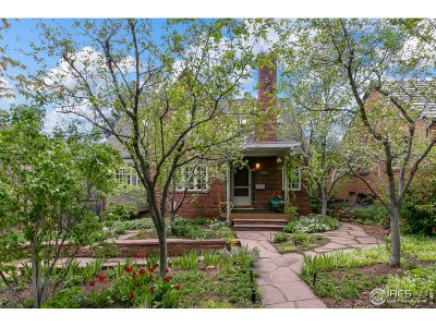 Boulder Single Family Home For Sale: 750 14th St