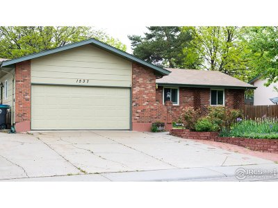 Longmont Single Family Home For Sale: 1537 Cambridge Dr