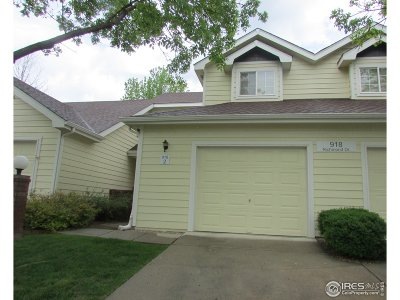 Fort Collins Condo/Townhouse For Sale: 918 Richmond Dr #2