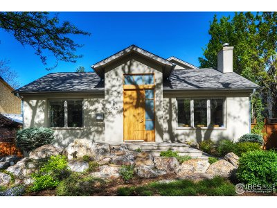 Boulder CO Single Family Home For Sale: $2,175,000