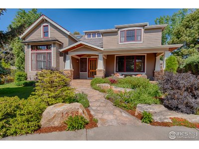 Boulder CO Single Family Home For Sale: $2,545,000