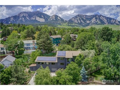 Boulder CO Single Family Home For Sale: $2,450,000